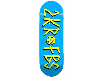 2KR deck LOGO blue 34 mm