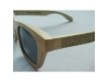 Wooden sunglasess with black glass
